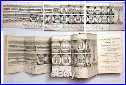 1825 Picture of PARIS RARE Antique Guide Illustrated MAPS France English Travel