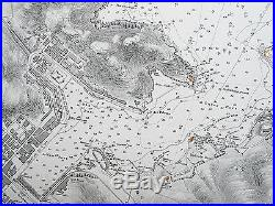 1842 France Port & Roadstead Of Port-vendres Old Admiralty Chart Map