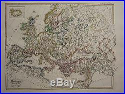 1846 Spruner Antique Historical Map Europe During The Crusades France Hungary