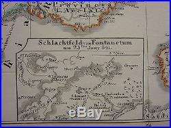 1846 Spruner Antique Historical Map France Divisions Of Kingdom Of Charlemagne