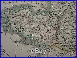 1846 Spruner Antique Historical Map France Kingdom Of Franks Gaul Merovingians
