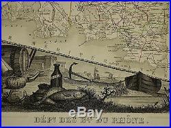 1856 Map France Department Des Bes Du Rhone Aix Arles Marseille