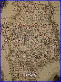 Sancerre France Map.Antique Map France Blog Archive 1856 Map France Department Du