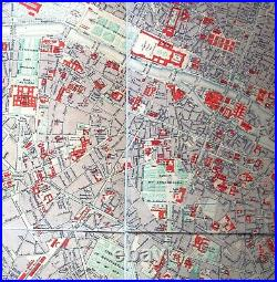 1883 LARGE FRENCH ANTIQUE MAP OF PARIS Malte-Brun on linen backing