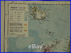 1883 Letts Map Europe Norway Sweden British Isles France Spain Iceland Italy