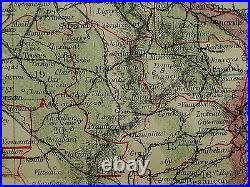 1883 Letts Map France Departments Orne Seine Aube Aisne Savoy Somme Lot