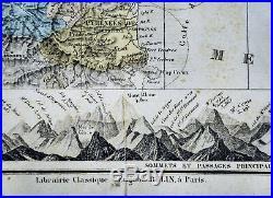 1885 Drioux Map France Department of Seine Paris Marseilies Large 54x70cm