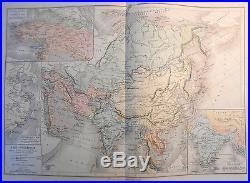 1887 Antique Map World Atlas Geography Paris Drioux Leroy