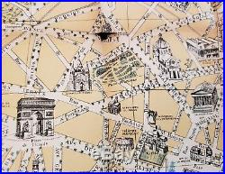 1890 Guilmin Map of Paris, France withMonuments