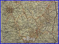 1907 Dated Map France South East Corsica Piedmont Genova Haute Savoie Lozere