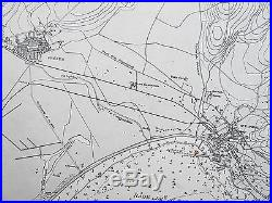 1907 France Golfe De Frejus Rade D'agay Genuine Vintage Admiralty Chart Map