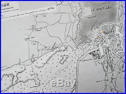 1915 France Pertuis D'antioche La Rochelle Rochefort Vintage Admiralty Chart Map