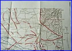 1918 US Army WWI Trench War ST Mihiel France Commander in Chief Map-Antique Rare