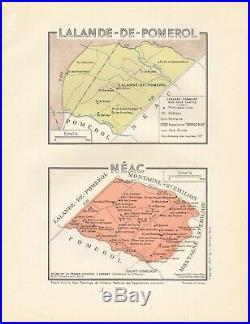 1949 Wine Map-france-vins De Bordeaux- Lalande De Pomerol, Neac