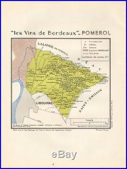 1949 Wine Map-france-vins De Bordeaux- Pomerol