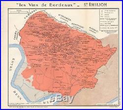 1949 Wine Map-france-vins De Bordeaux- St Emilion