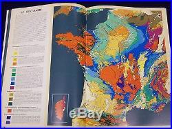 1969 Grand Atlas De La France French Text Nice Maps 244 Pages Kd 107