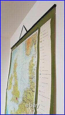 1974 Vintage School Map-West Europe (Uk, Ireland, France, Belgium, Netherlands)