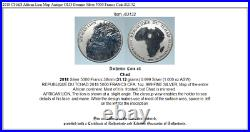 2018 CHAD African Lion Map Antique OLD Genuine Silver 5000 Francs Coin i83132
