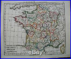 9 Antique Maps France Greece Turkey Herisson Hand Coloured Engraved by Glot 1816
