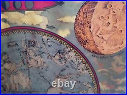 ANTIQUE ASTROLOGY Zodiac Map Of Heavens DISPLAY HOME DECOR Galileo RARE