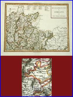 ANTIQUE MAP- LORRAINE- FRANCE- by Janvier- 1782