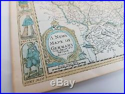 A. NEWE MAPE OF GERMANY, NEWLY AUMENTED BY JOHN SPEED, 1626, Very Rare