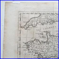 A NEW AND CORRECT MAP OF FRANCE, 1745 Rapin's History of England N. TINDAL Nice