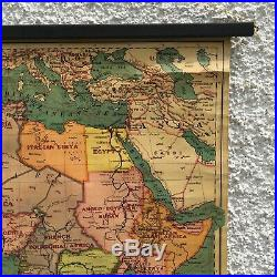 Africa & Southern Europe Map 1926 Bacon's Excelsior Wall Map 95 x 75cm