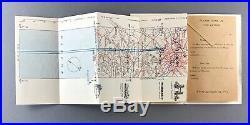 Air France Paris London Vintage Airline Route Map Carte De Route Londres