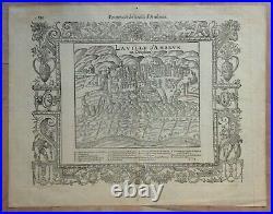 Ambrun Dauphine France 1575 Belleforest / Munster Antique View 16th Century