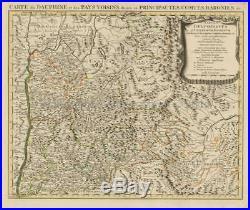 Ancient Roman France Antique Map Covens & Mortier 1745 Original