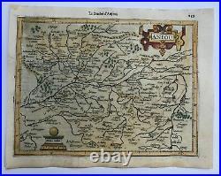 Anjou France 1613 Mercator Hondius Atlas Minor Nice Antique Map 17th Century