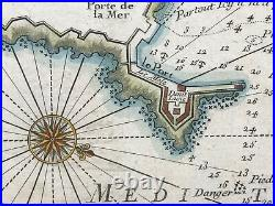 Antibes France 1727 Michelot & Bremond Antique Engraved Sea Chart