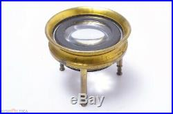 Antique 10x Magnifier C. 1890 Brass Sea Maps, Stamps, Jewelry, Coins, Bills