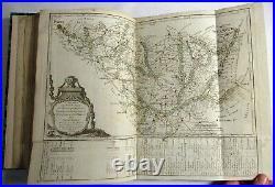Antique 1780 L'INDICATEUR FIDELE OU GUIDE DES VOYAGEURS Travel Maps ATLAS France