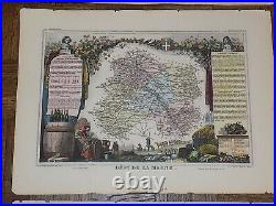 Antique 19th C. Engravings Maps Provinces Of France Set of 6