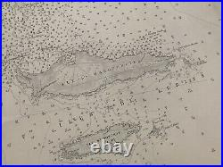 Antique Admiralty Chart 2822 France Port Cannes, Port Antibes 1861 Edition