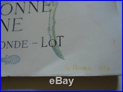 Antique Book Maps Dordogne Lot Gironde Sarlat Gourdon Figeac Cahors France 1904