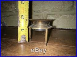 Antique Brass Desk Map Magnifying glass magnifier Tripod CINDO FRANCE. 2 dia