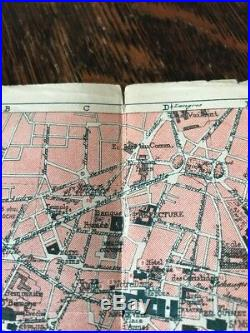 Antique Brochure Map Dijon France Tram Motor-Car Travel Tourism Art Museum VTG
