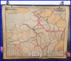 Antique Card School Vidal Lablache France Channel N°6 School Map