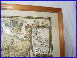 Antique Daniel Derveaux Map France Fromaiges Et Vignobles Paid De Cocagne