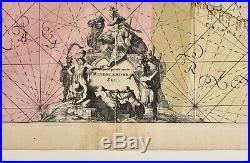 Antique MAP 1715 De WIT, Renard, Occidentalior Tractus, Mediterranean Sea Chart