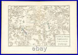 Antique Map-BATTLE-BOUSSU-CHARLEROI-GERPINNES-FRANCE-BELGIUM-Beaurain-1776