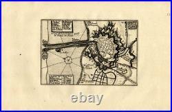 Antique Map-DUNKIRK-DUNKERQUE-FRANCE-FORT-Weege-1753