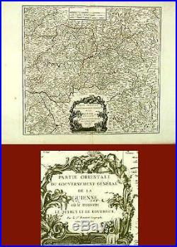 Antique Map- East Guienne-france-vaugondy-1752