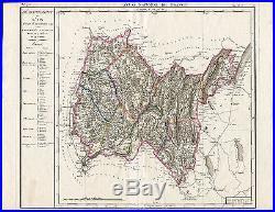 Antique Map-FRANCE-AIN DEPARTMENT-SWITZERLAND-Cassini-Chanlaire-Dumez-1793