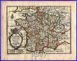 Antique Map-FRANCE AND ITS PROVINCES BASED ON DE L'ISLE-de Missy-de Leth-1749