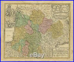 Antique Map-FRANCE-AQUITAINE-BORDEAUX-BAYONNE-BLAY-Homann Heirs-c. 1730